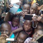 Children receive Bibles