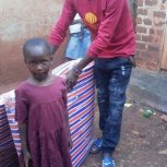 Little ones received comfortable marttress' from donors at SAFO