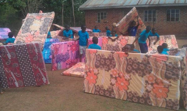 My babies in Africa got their mattresses!!!