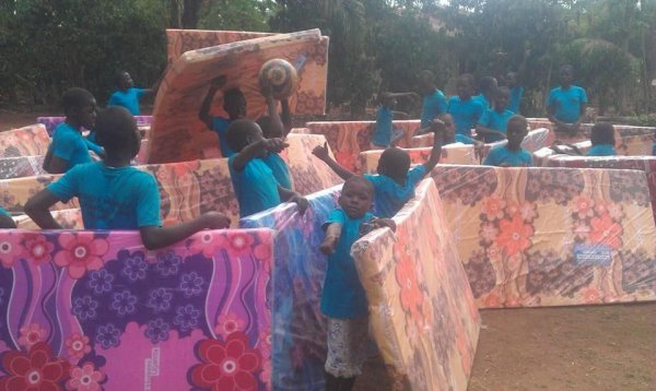 My babies in Africa got their mattresses!!!