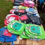 Backpacks received for school!