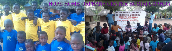 Banner HOPE HOME ORPHANS CENTER BUGIRI UGANDA