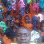 Children receive T Shirts at Butiiki Children's Ministry