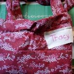 Here is a dress donated to the Tracy Kalida.