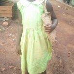 Ntono Zuena in her school uniform