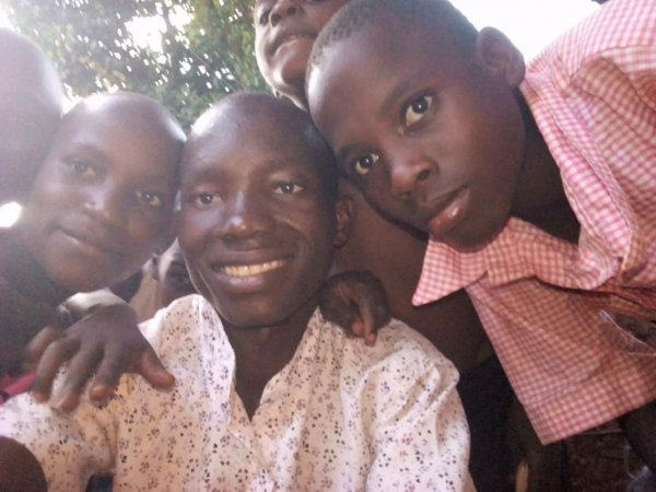 Kirunda Sula with the children