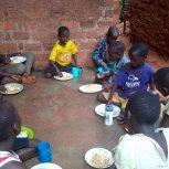 Little  angels are enjoying their meal
