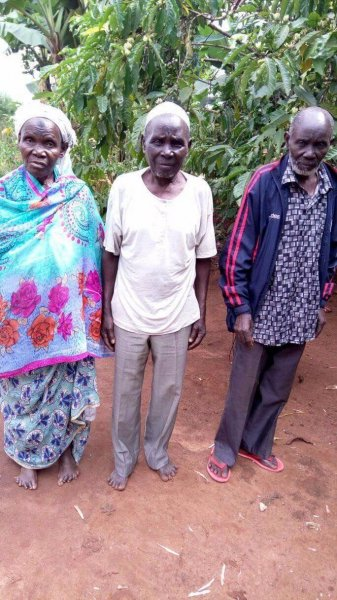 Reached out to this family of elders.              We shared a lot with them.