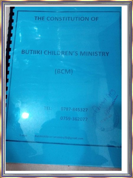 Credentials Butiiki Children's Ministry