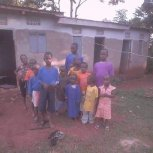 Our children preparing to go to church.